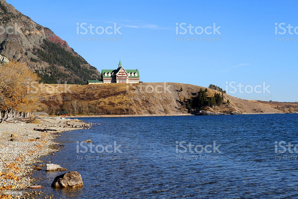 Waterton Blue stock photo