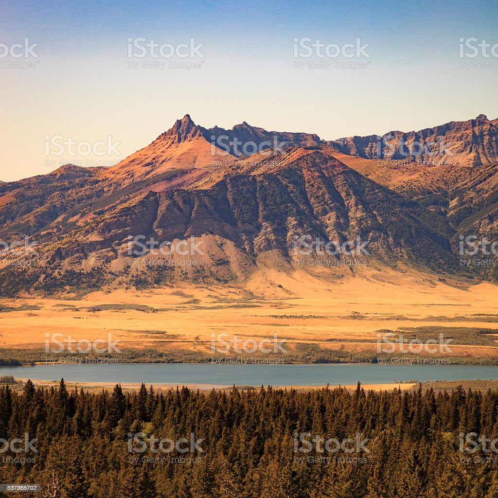 Waterton Lakes national park in Canada stock photo