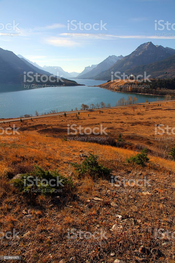 Waterton Valley stock photo