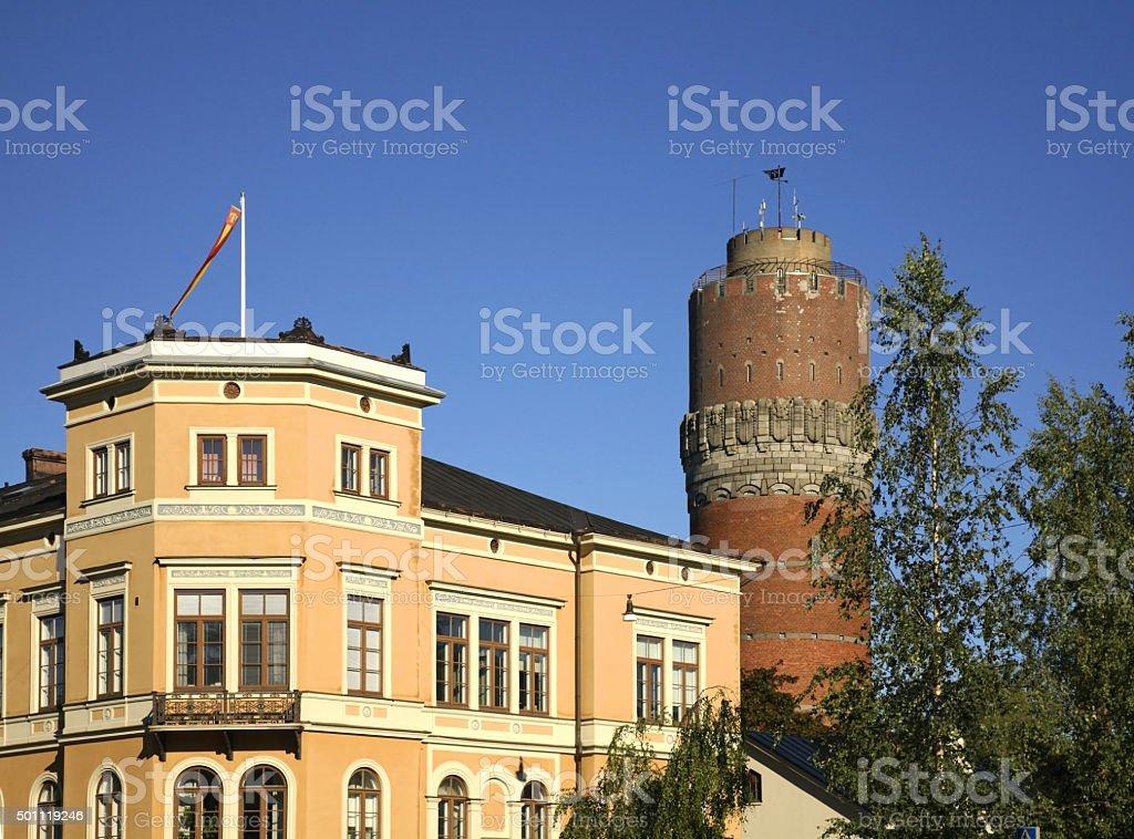Watertower in Vaasa. Finland stock photo