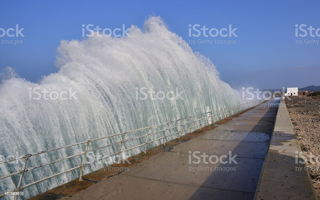 Waterwall, Jersey, U.K. stock photo