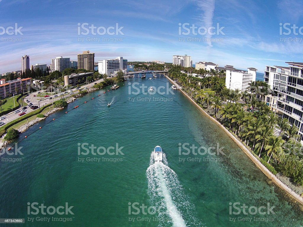 Waterways near Boca Raton, Florida stock photo