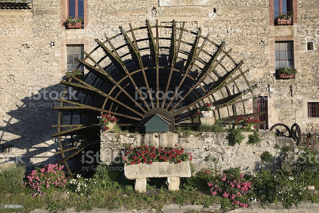 Waterwheel of a Mill royalty-free stock photo