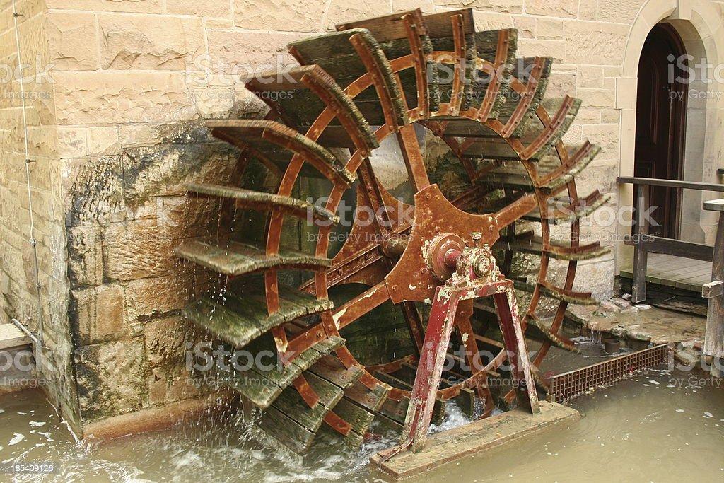 waterwheel royalty-free stock photo