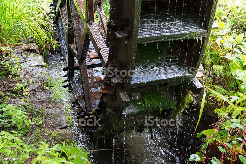 Waterwheel stock photo