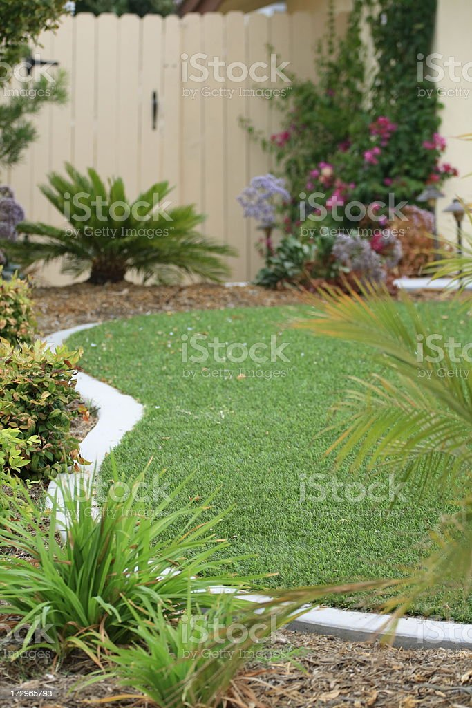 Waterwise Lawn stock photo