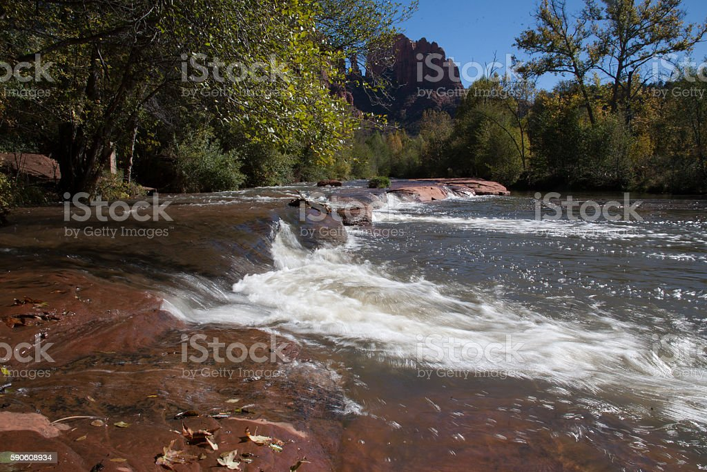 Watery flows stock photo