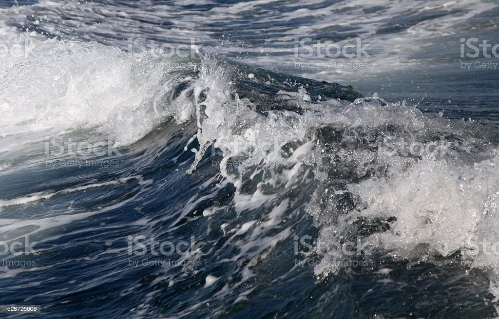 Watery Wake Behind A Boat stock photo