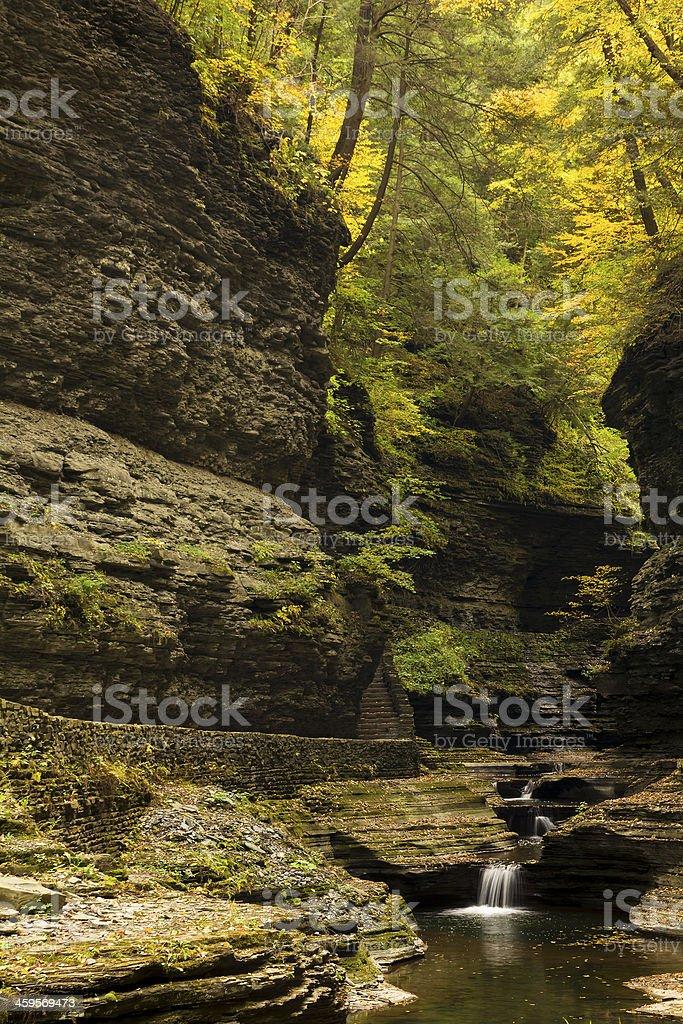 Watkins Glen Waterfalls stock photo