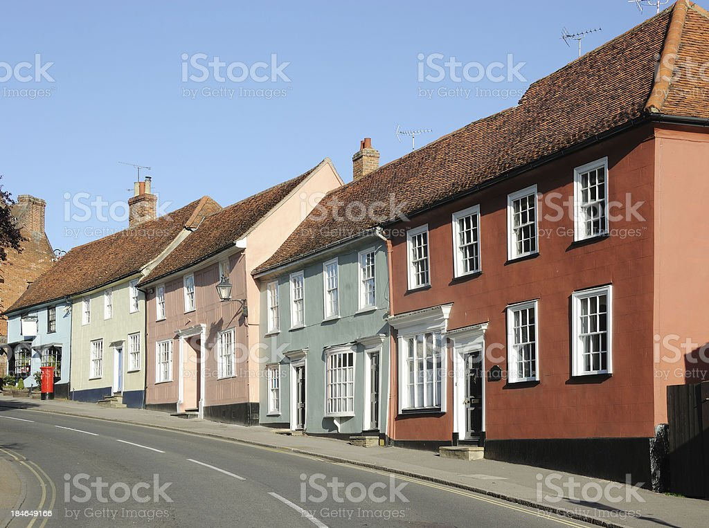 Watling Street, Thaxted stock photo