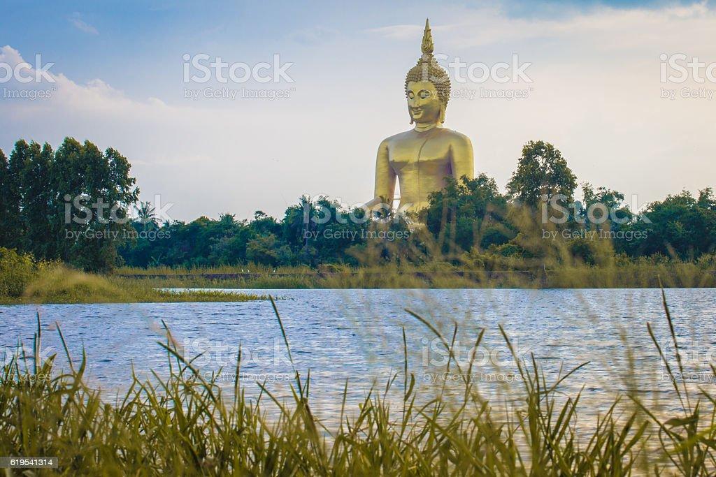 wat-muang,ang-thong,Thailand stock photo