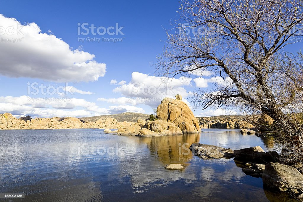 Watson Lake stock photo