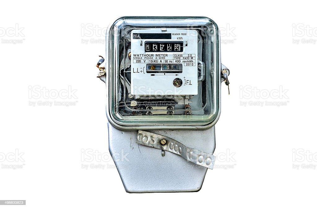 Watt hour Electric meter stock photo