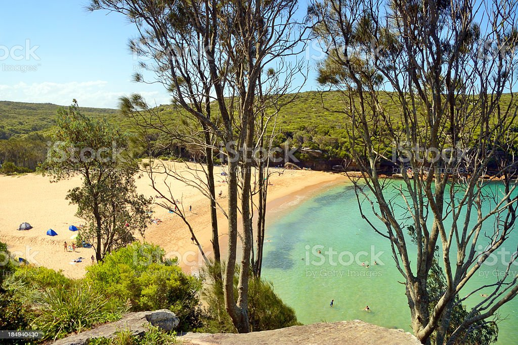 Wattamolla Beach royalty-free stock photo