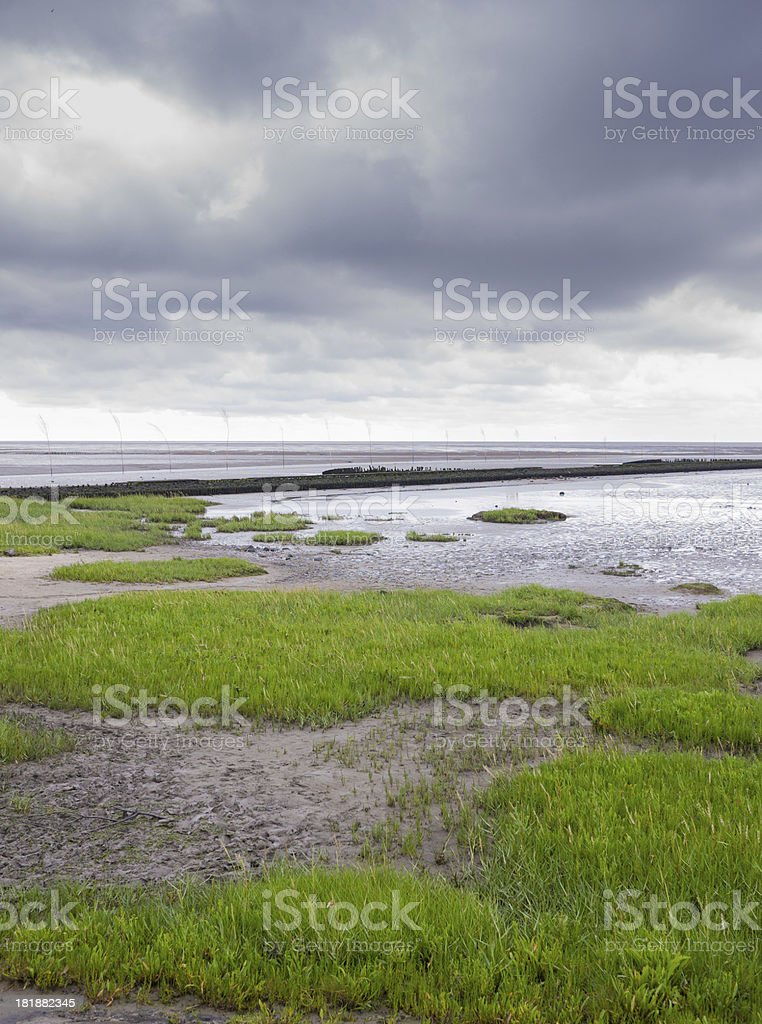 Wattenmeer Sea North Germany royalty-free stock photo