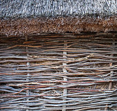 Wattle wall of the thatched shed