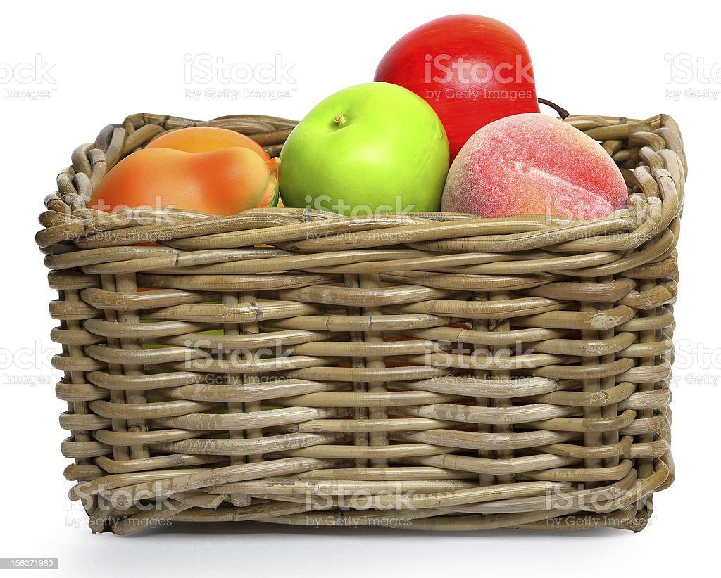 Caronculé corbeille de fruits photo libre de droits