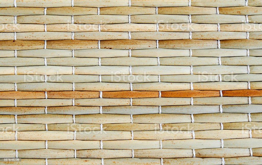 Wattled straw background stock photo