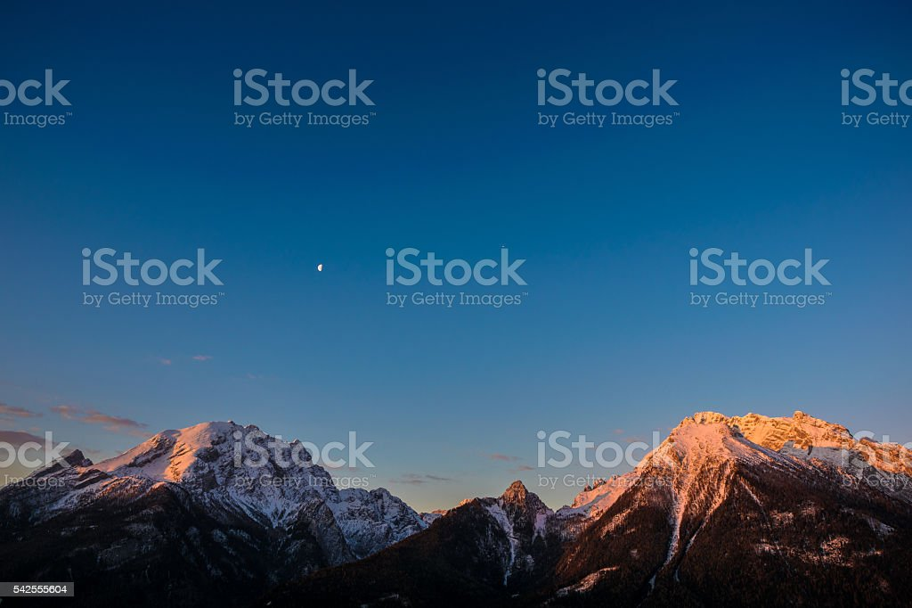 Watzmann and Hochkalter stock photo