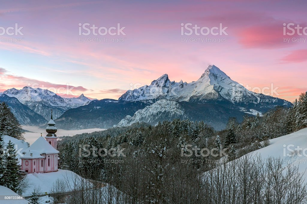 Watzmann at Sunrise stock photo