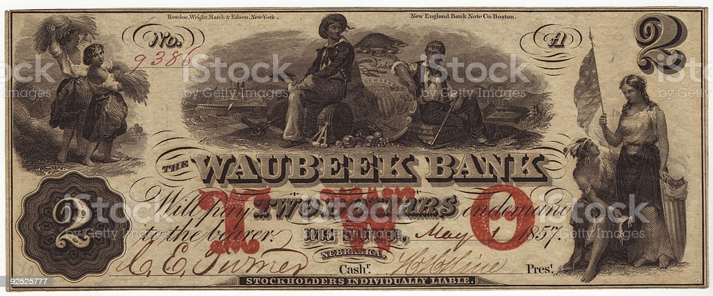 Waubeek Bank stock photo