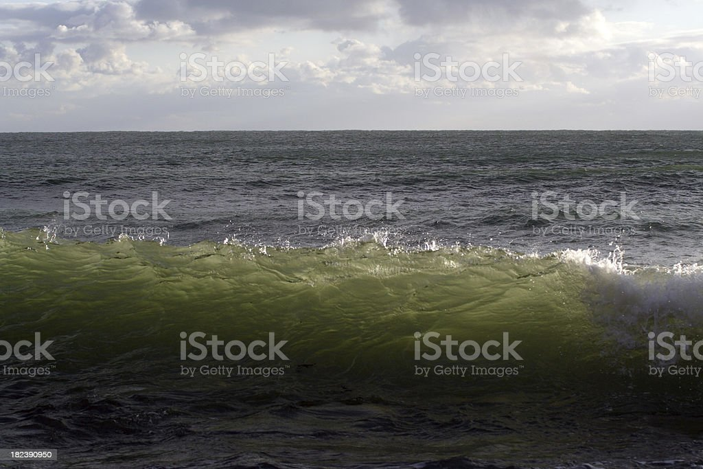 Wave about to Break stock photo