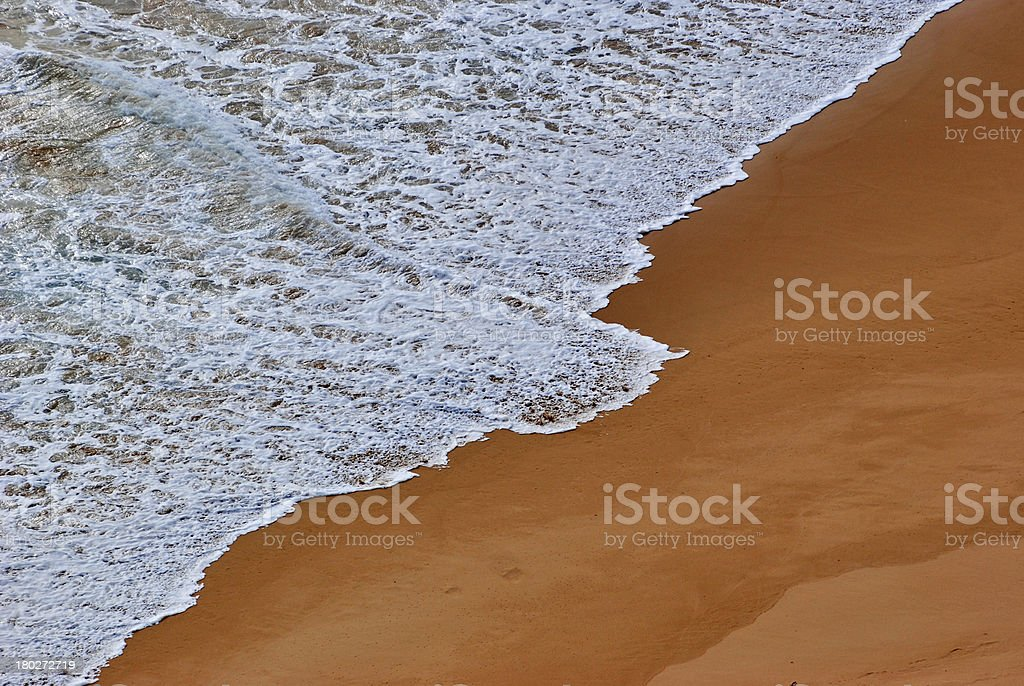 wave against the shore royalty-free stock photo