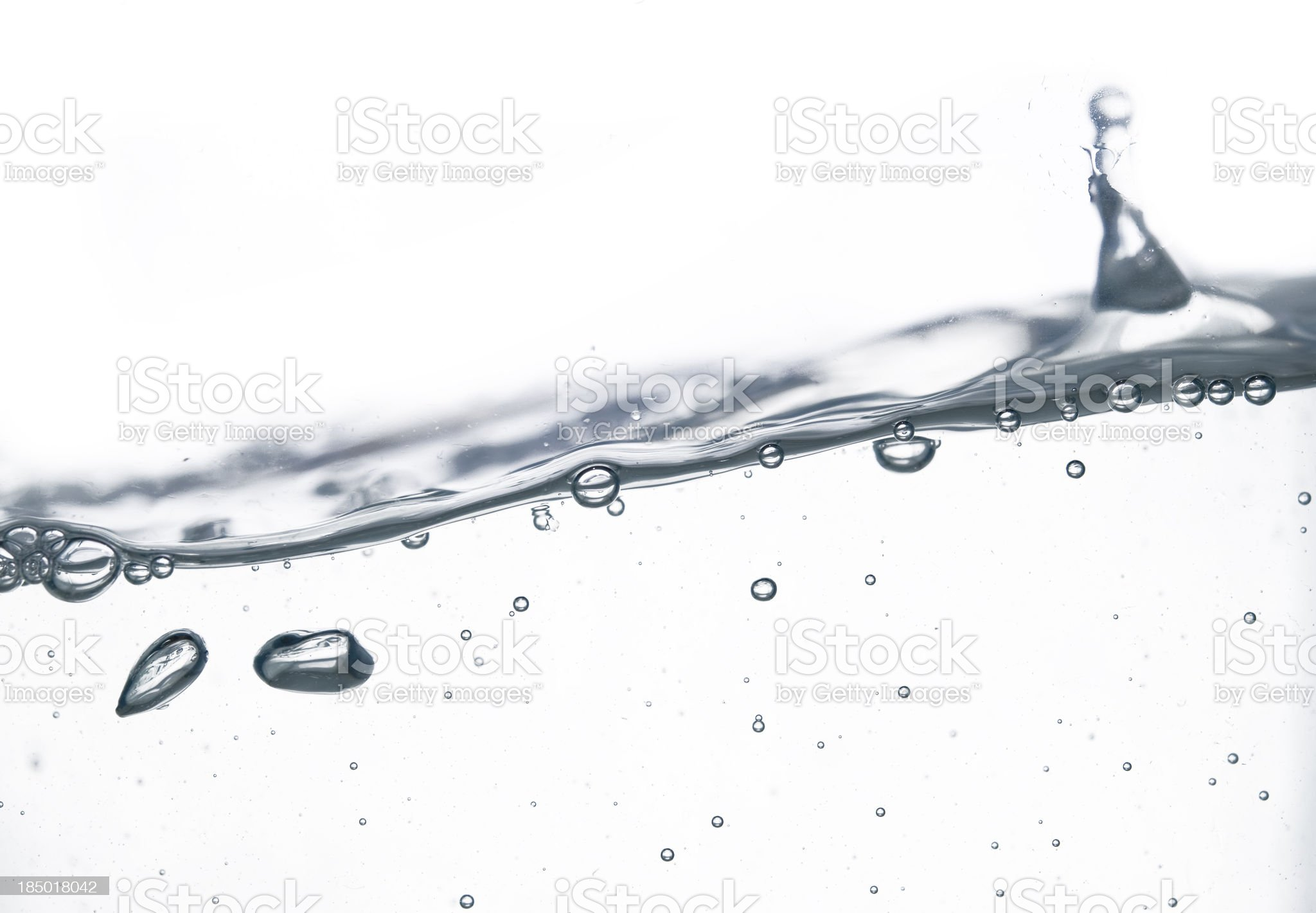 wave and bubbles royalty-free stock photo