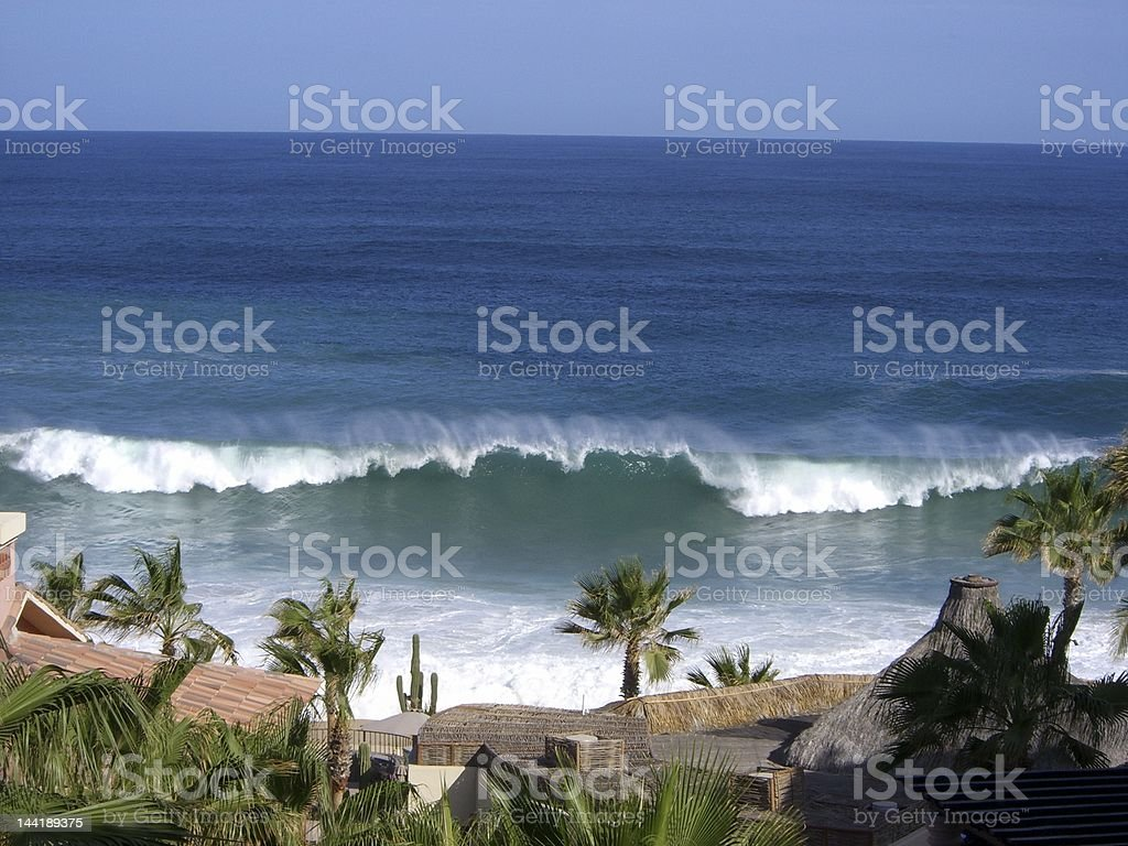 wave and resort meet royalty-free stock photo