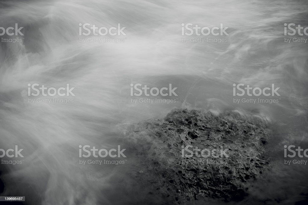 wave and rock royalty-free stock photo