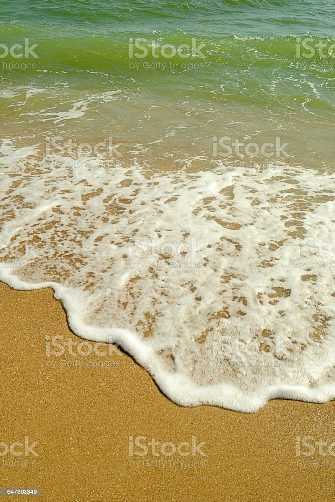 Wave at the sea. stock photo