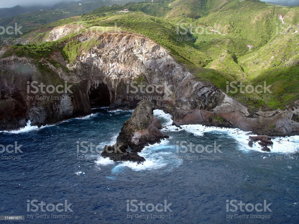 Wave Carved Cliffs royalty-free stock photo