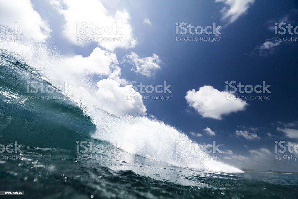 Wave crashing royalty-free stock photo