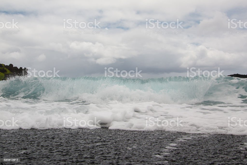 Wave Crashing stock photo