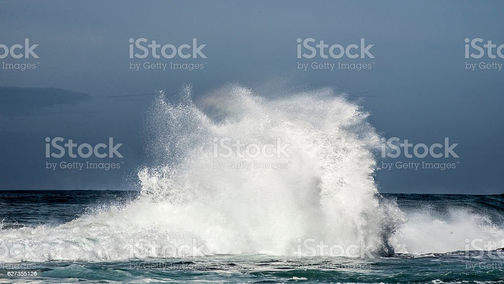 Wave Crasshing at Storms River Mouth stock photo