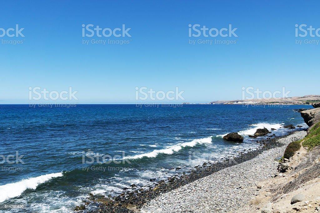 Wave Crest nearby Meloneras Beach / Spain stock photo