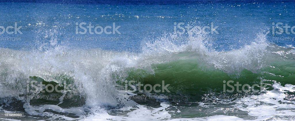 Cresta de onda foto de stock libre de derechos