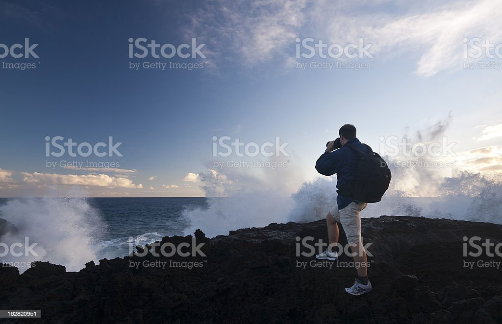 Wave Explosion Towards Photographer royalty-free stock photo
