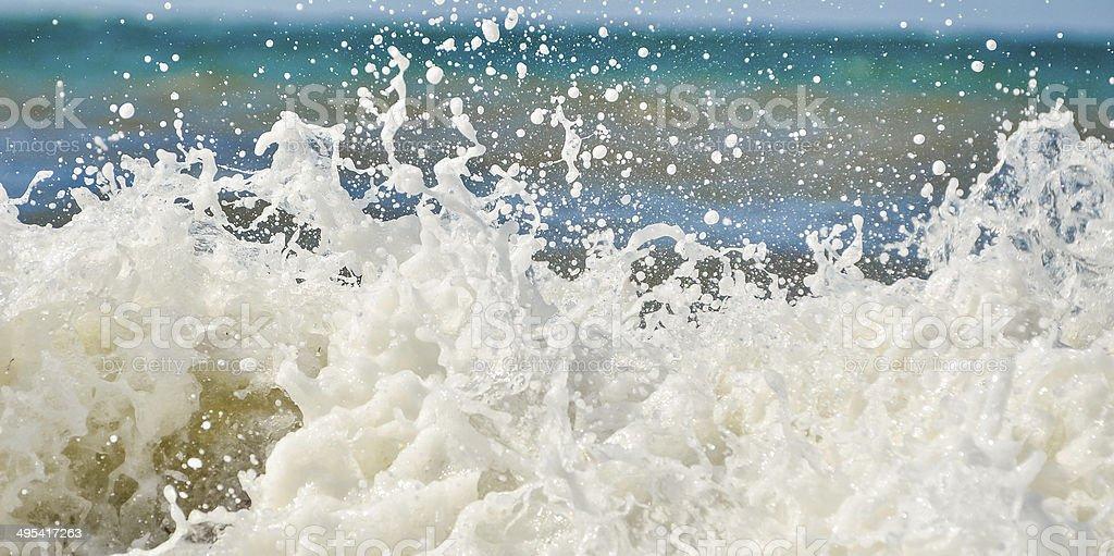 Wave foam stock photo