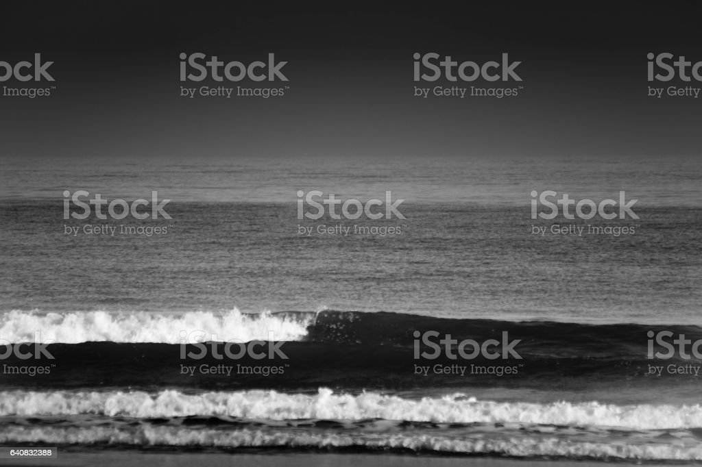 Wave forms on North East beach stock photo