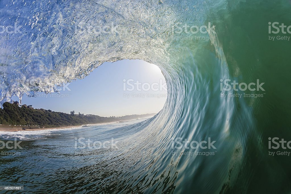 Wave Hollow Inside Out stock photo