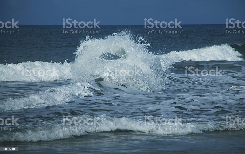 Wave impact royalty-free stock photo