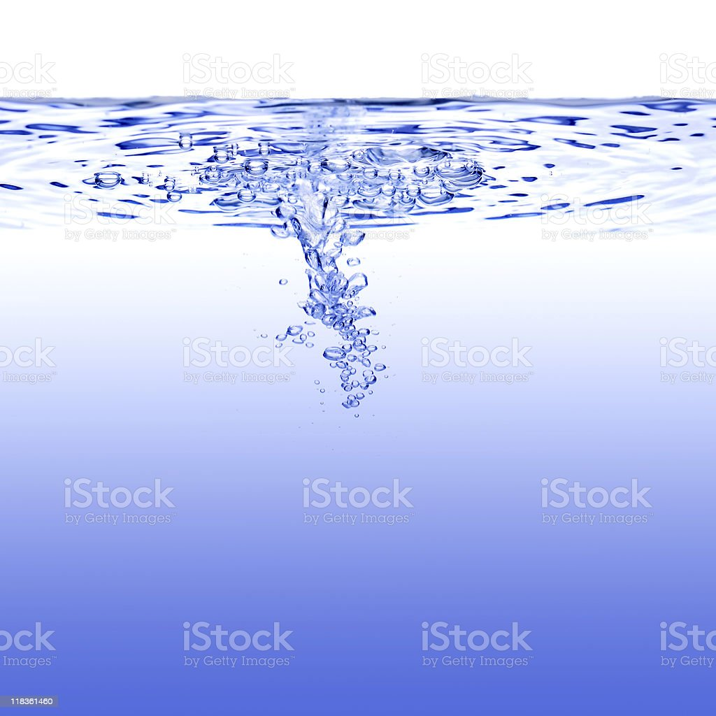 Wave in blue royalty-free stock photo