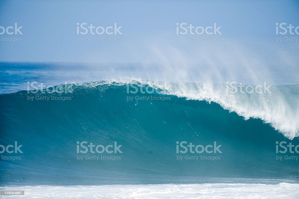 Wave in Oahu royalty-free stock photo