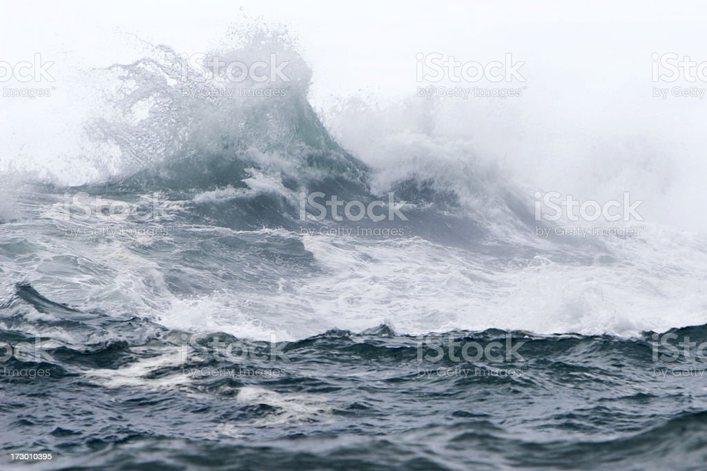Wave in Storm royalty-free stock photo