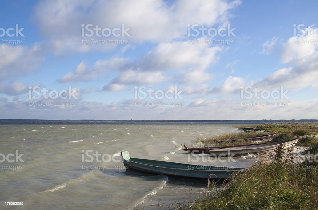 Wave in the lake royalty-free stock photo