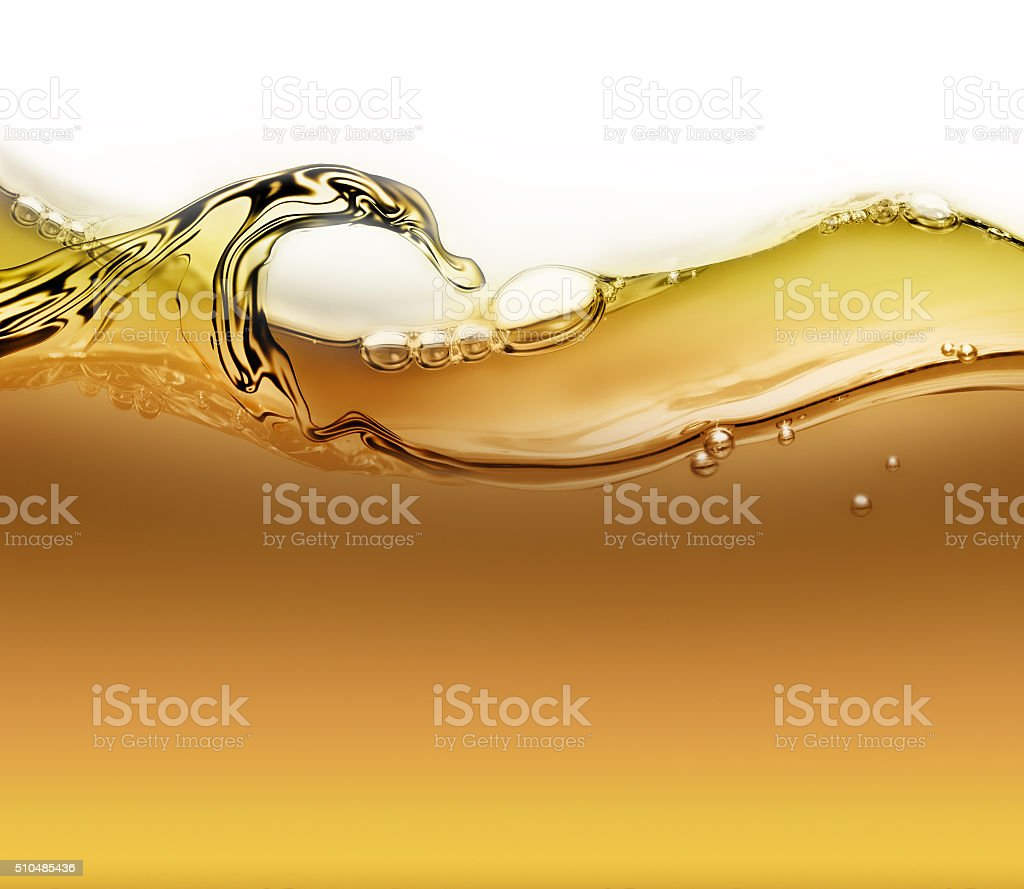 wave of oil with air bubbles stock photo
