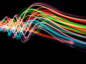 Wave of Pyrotechnic Coloured Lights