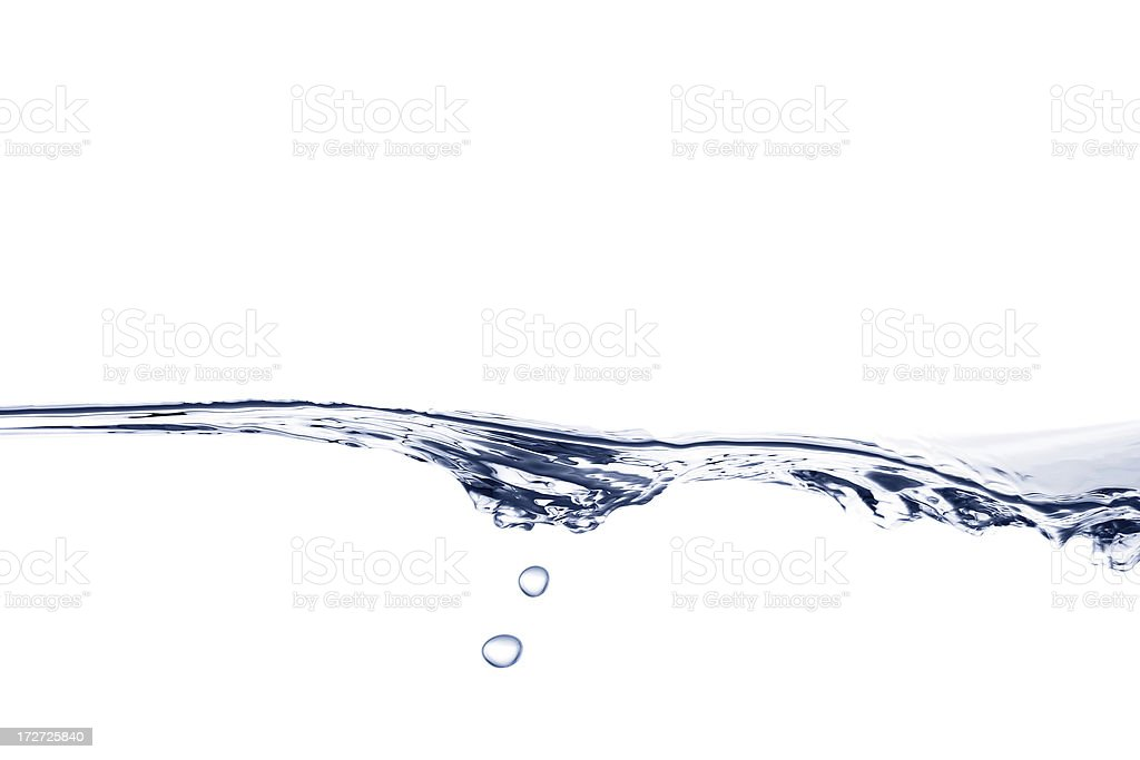 Wave of water with bubbles royalty-free stock photo