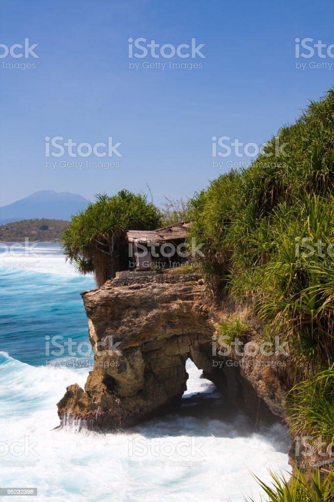 Wave on beautiful coastline stock photo